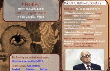 XII. Ruszisztikai Napok - Nobel-díj
