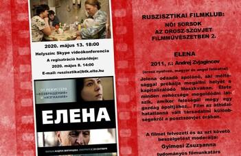 """Ruszisztikai Filmklub online, május - """"Jelena"""""""