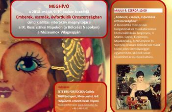 2018. május 9-én új kiállítás nyílik a Fortocska Galériában.