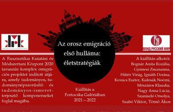 Az orosz emigráció első hulláma: életstratégiák - kiállításmegnyitó