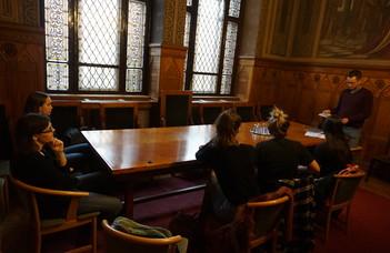 Посещение Национального архива Венгрии