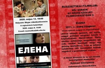 A Ruszisztikai Filmklub második online összejövetelére 2020. május 13-án szerdán 18 órakor kerül sor.