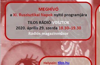 A Tilos Rádió Vosztok c. műsorának vendégei a Ruszisztikai Kutatási és Módszertani Központ munkatársai.