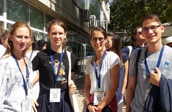 Будапештская команда в XI-й Международной квалификационной школе в Варне
