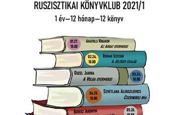 2021 nóvuma a Ruszisztikai Kutatási és Módszertani Központ kínálatában a Könyvklub.